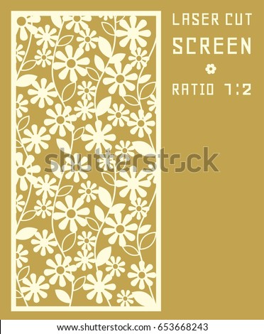 Daisy Flower Laser Cut Template Pattern Stock Vector (Royalty Free ...