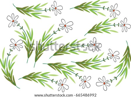 daisy flower patterns stock vector royalty free 665486992