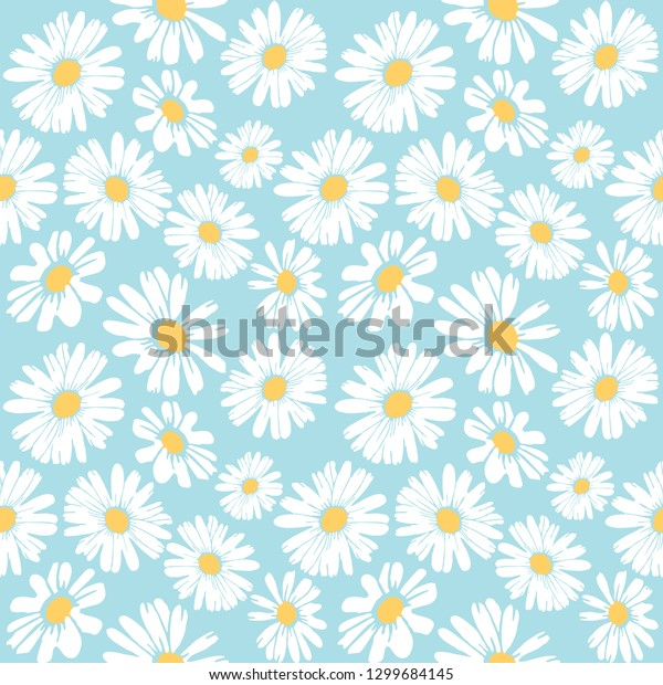 Daisy flower vector pattern illusration floral background