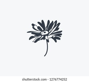 Daisy icon isolated on clean background. Daisy icon concept drawing icon in modern style. Vector illustration for your web mobile logo app UI design.