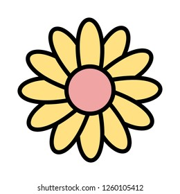 Daisy Vector Icon Sign Icon Vector Illustration For Personal And Commercial Use...Clean Look Trendy Icon...