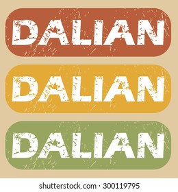 Dalian on colored background