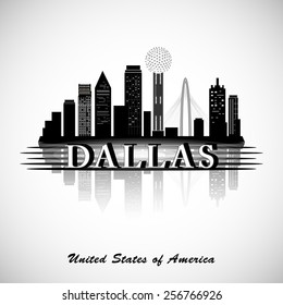 Dallas silhouette. Cities Skyline