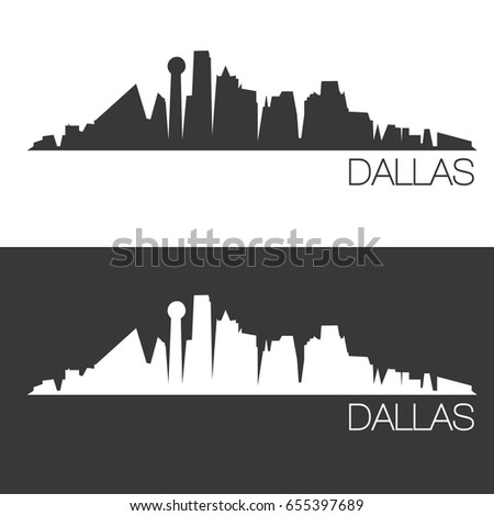 dallas skyline silhouette abstract design city stock vector royalty