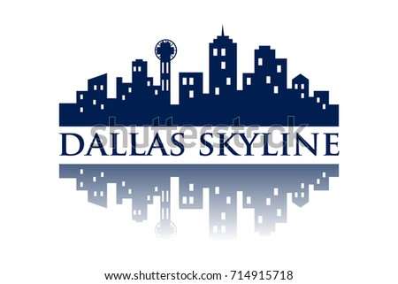 dallas skyline silhouette city logo stock vector royalty free