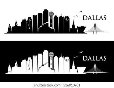 Dallas skyline - vector illustration