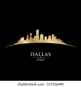 Dallas Texas city skyline silhouette. Vector illustration