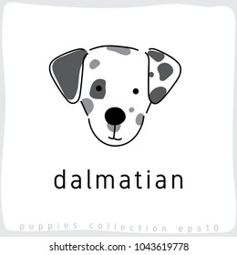 Dalmatian : Dog Breed Collection : Vector Illustration