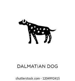 Dalmatian dog icon. Dalmatian dog symbol design from Dogs collection. Simple element vector illustration on white background.