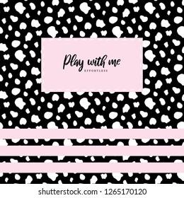 Dalmatian pattern pink card
