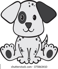 Dalmatian - Puppy - Vector Illustration