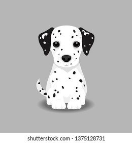 Dalmatian Puppy Vector Illustration. Dog isolated
