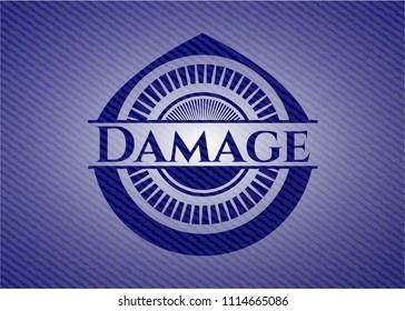 Damage with denim texture