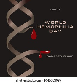 Damaged Blood Poster - by the April date, World Hemophilia Day