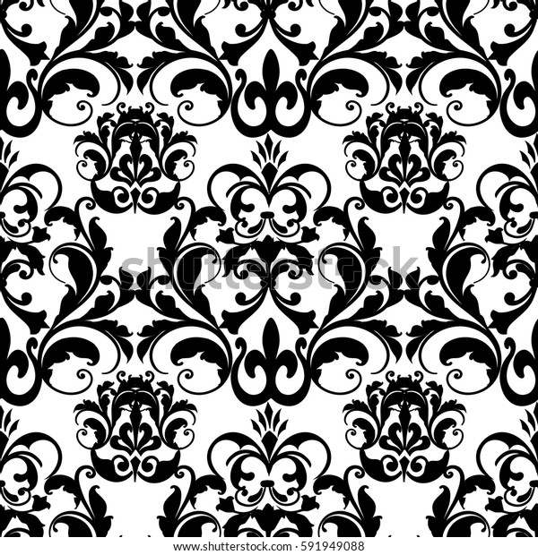 ea97d4892eed Damask Baroque Seamless Pattern Floral Ornamentsmodern Stock ...