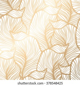 Royal Wallpaper Vector Illustration EPS 10 Gold Leaf Background
