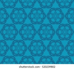 Damask floral seamless pattern background. Luxury texture for wallpaper, invitation. Vector illustration. Blue color.