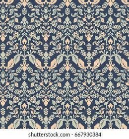 damask floral seamless wallpaper. vintage vector background