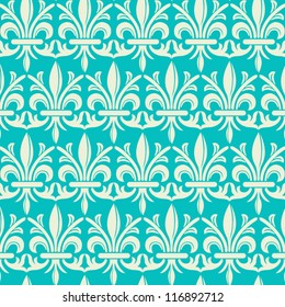 Damask Pattern - Vector seamless pattern background.  File includes pattern swatch.