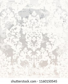 Damask pattern Vector. Vintage baroque ornament decor. Royal luxury texture backgrounds. Victorian sumptuous decoration textile, fabric, tile. Trendy colors