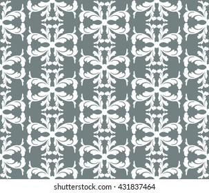 Damask Scrapbook Paper. Vector illustration pattern.