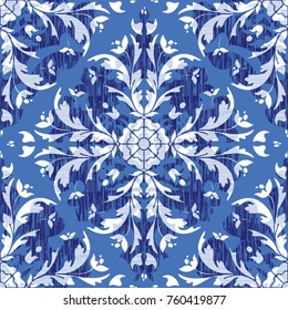 Damask seamless background pattern