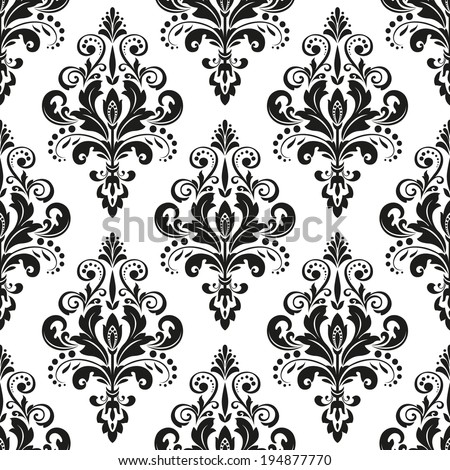 Damask seamless floral pattern royal wallpaper stock vector royalty damask seamless floral pattern royal wallpaper flowers on a black and white background mightylinksfo