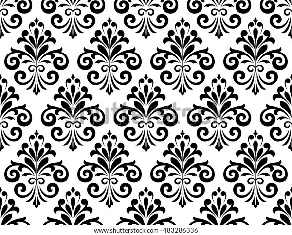 Damask Seamless Floral Pattern Royal Wallpaper Stock Vector
