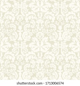 Damask seamless floral pattern. Shabby ornament and background in vector. Ornate Lace Fabric