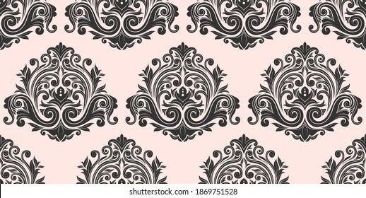 Damask seamless pattern background. vector illustration