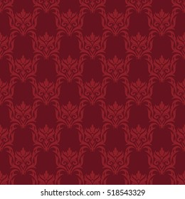 Damask style seamless background with the abstract patterns