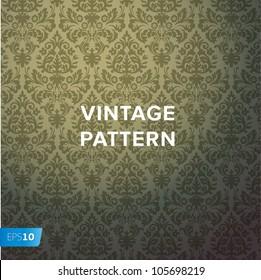 Damask vintage floral background pattern, vector Eps10 illustration.