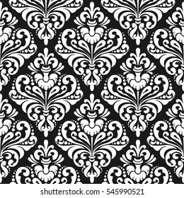 Damask wallpaper background, inverted damask pattern