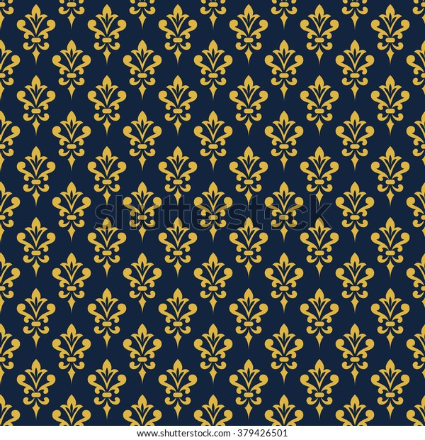 Damask Wallpaper Background Victorian Style Elegant Stock Vector