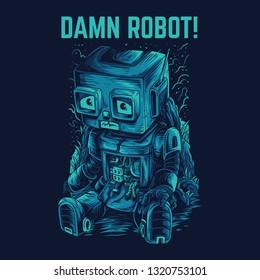 Damn Robot Remastered Illustration