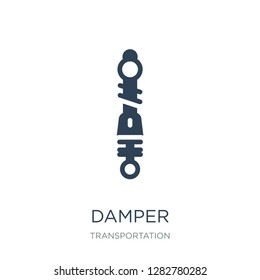 damper icon vector on white background, damper trendy filled icons from Transportation collection, damper vector illustration