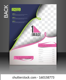 Dance Academy Back Flyer & Poster Cover Template