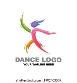 Dance Color Logo Design Templates