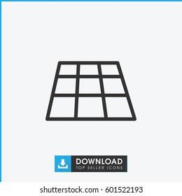 dance floor icon. simple outline dance floor vector icon. on white background.