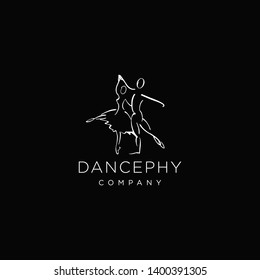 Dance Logo Abstrac with Modern Design Template