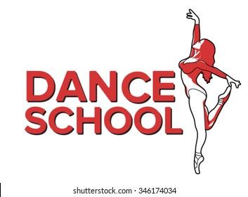 dance logo, badge and emblem. Illustration