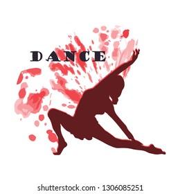 Dance logo vector design symbol