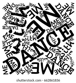 Dance with me words illustration