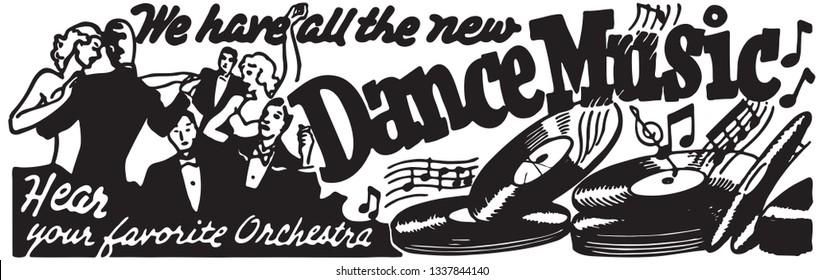 Dance Music - Retro Ad Art Banner