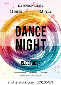 Dance Night Party design template. Vector illustration