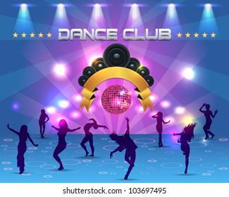 Dance Party Banner Background Flyer Templates Vector Design