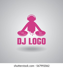 Dance party, dj logo design