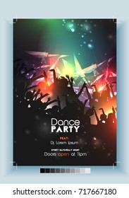 Dance Party Poster Template - Vector Illustration