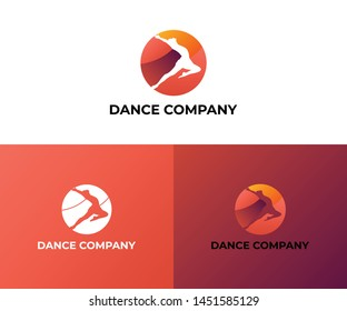 Dance school logo vector company.