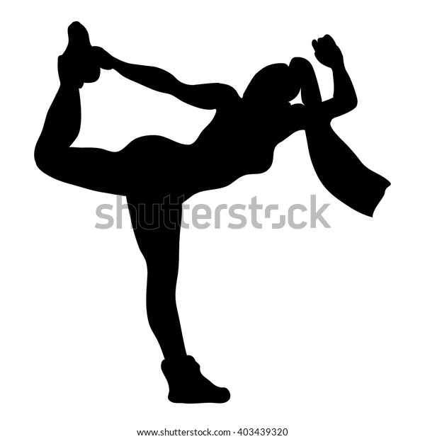 Dance Silhouette Jazz Funk Stock Vector Royalty Free 403439320